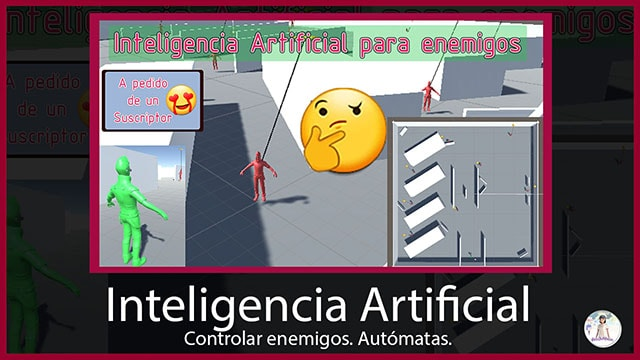 miniatura de un articulo sobre inteligencia artificial simple para enemigos implementada en Unity