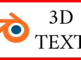 article and video about how to make 3d text in blender 2.8