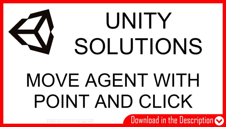 article and video about how to move character with mouse in unity, point and click, download solution